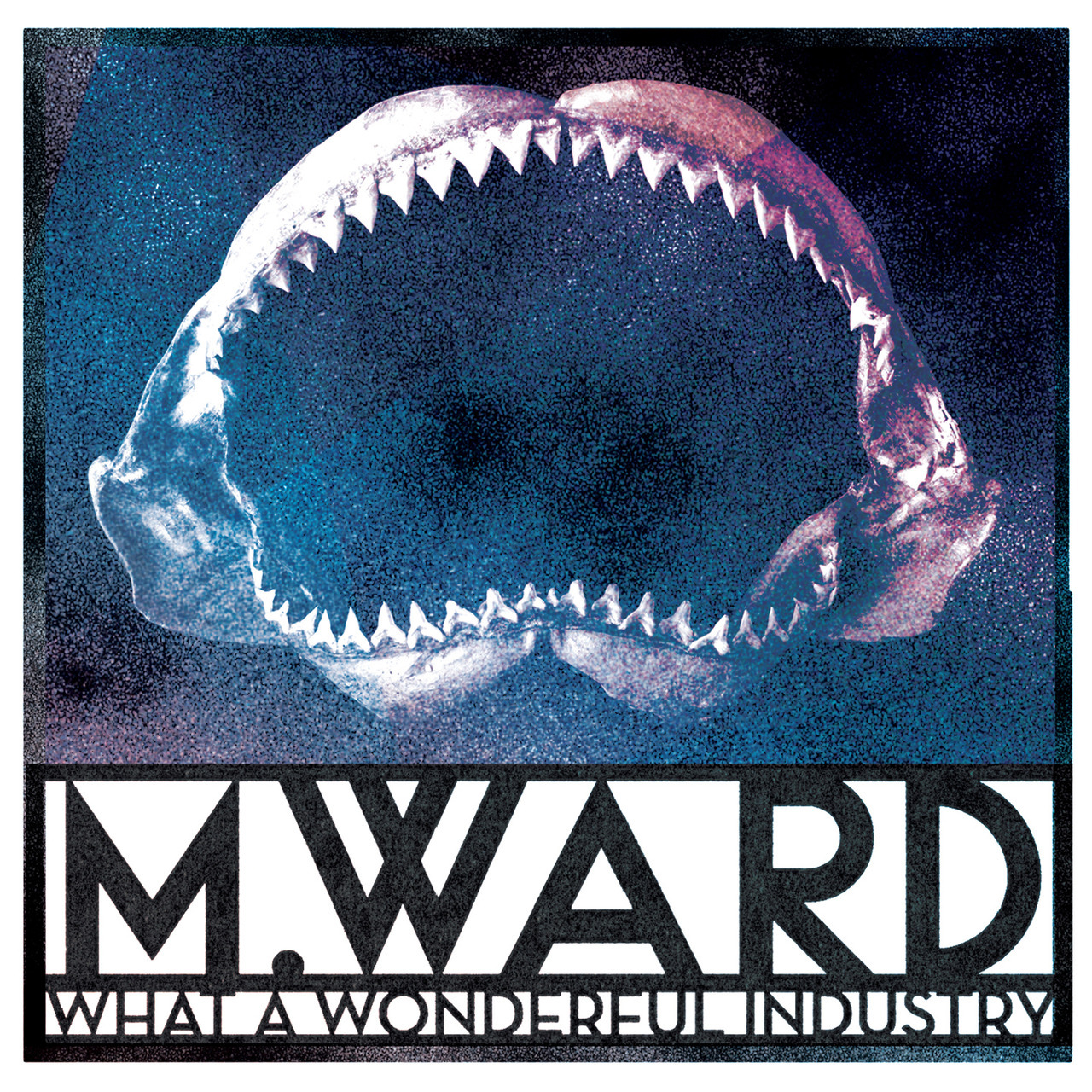 m ward what a wonderful industry shark jaw album cover artwork