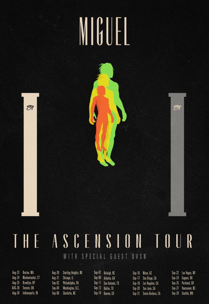 miguel ascension 2018 tour poster dvsn