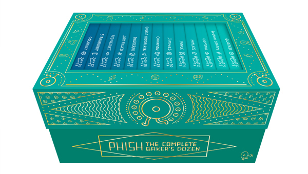 Phish the complete baker's dozen box set box packaging package