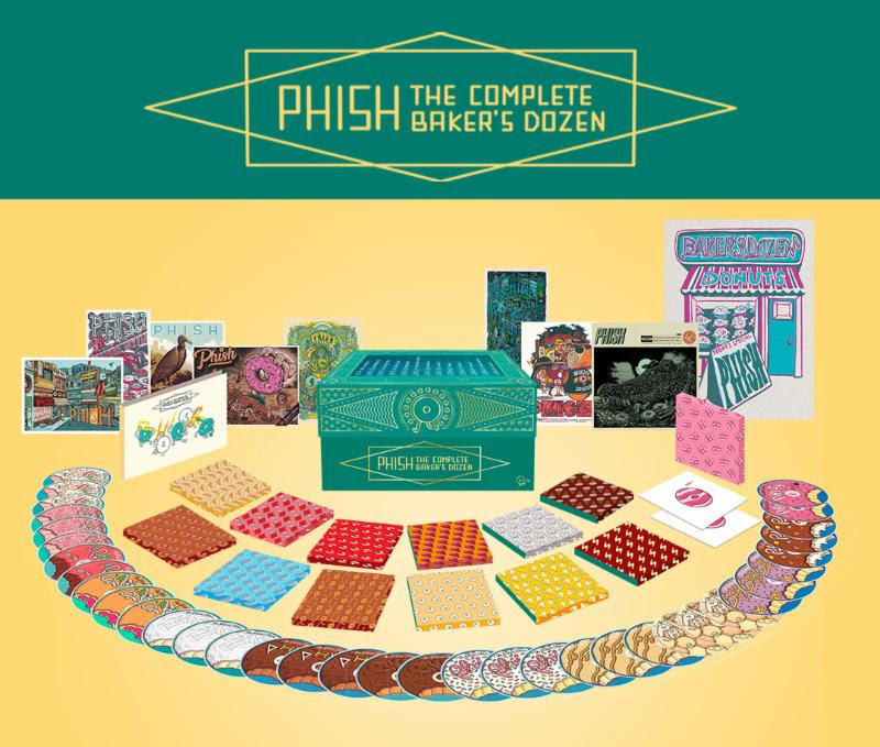 Phish the complete baker's dozen box set cds artwork