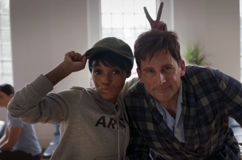 Janelle Monáe and Steve Carell