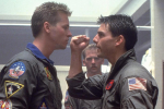 Val Kilmer Tom Cruise Iceman Top Gun Maverick Fist