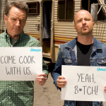 Bryan Cranston and Aaron Paul Breaking Bad Omaze Cook RV