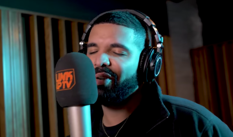Drake's Link Up TV freestyle behind the barz