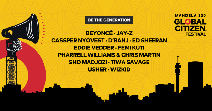 Global Citizen 2018 lineup