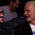 John Frusciante and Flea, former Red Hot Chili Peppers bandmates