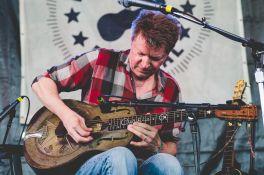 Nels Cline's Curtis Rogers Memorial Resonator, Newport Folk Festival 2018, photo by Ben Kaye