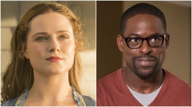Evan Rachel Wood Sterling K. Brown Frozen 2 glasses
