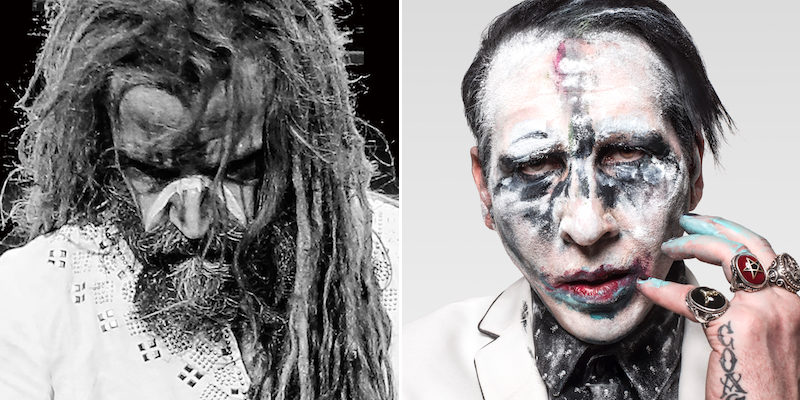 Rob Zombie and Marilyn Manson