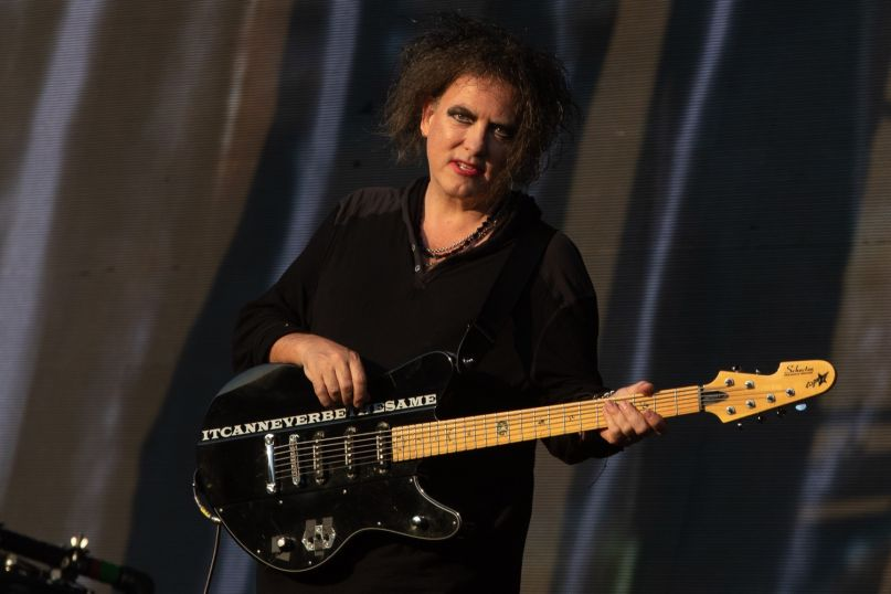 Robert Smith of The Cure at Hyde Park