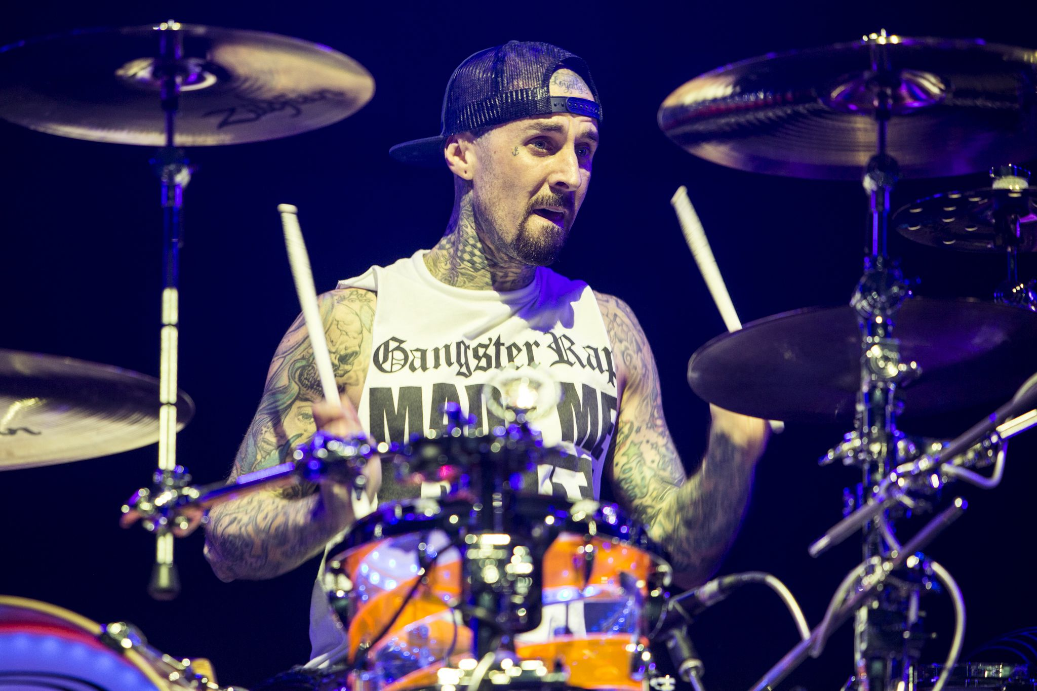 travis barker car crash school bus