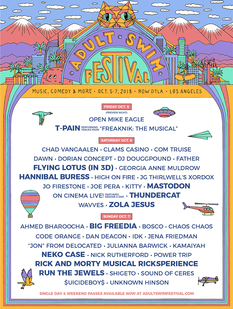 Adult Swim Festival Lineup Poster Rick and Morty