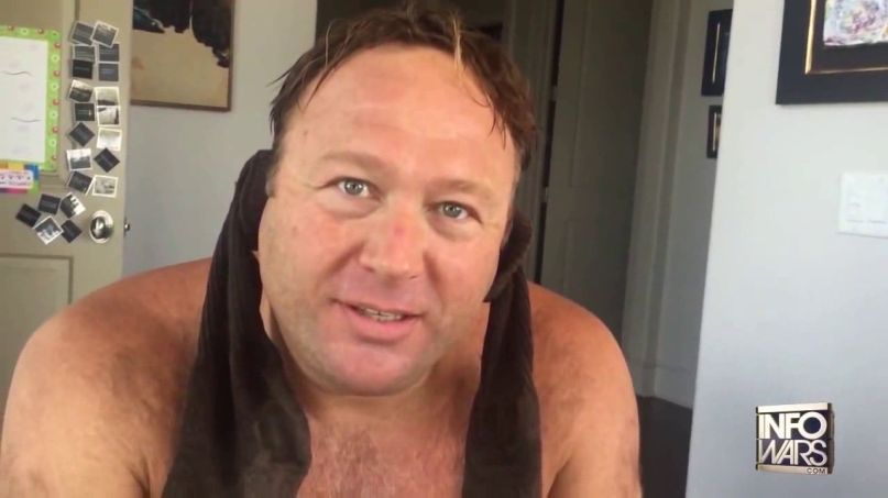 Alex Jones shirtless
