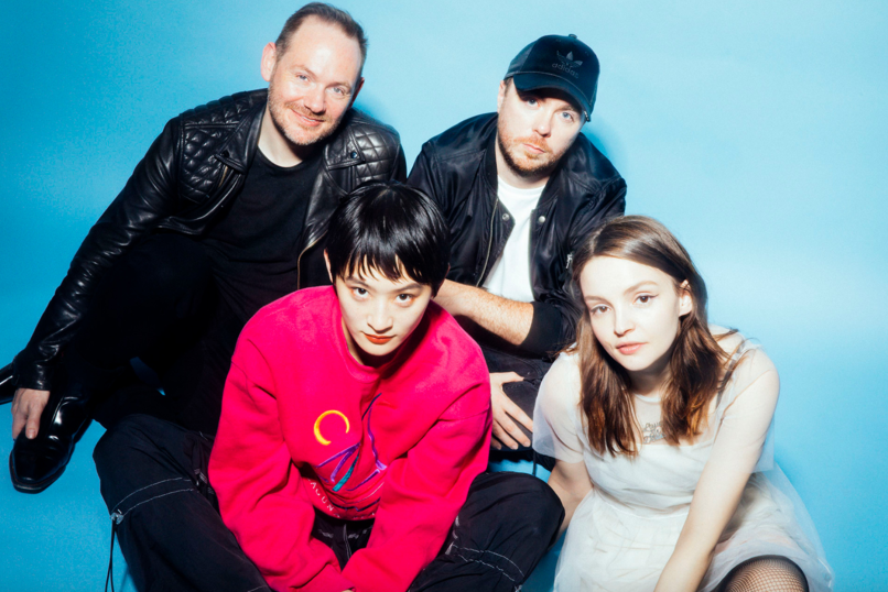Chvrches and Kom_I of Wednesday Campanella, photo by Masato Yokoyama out of my head video