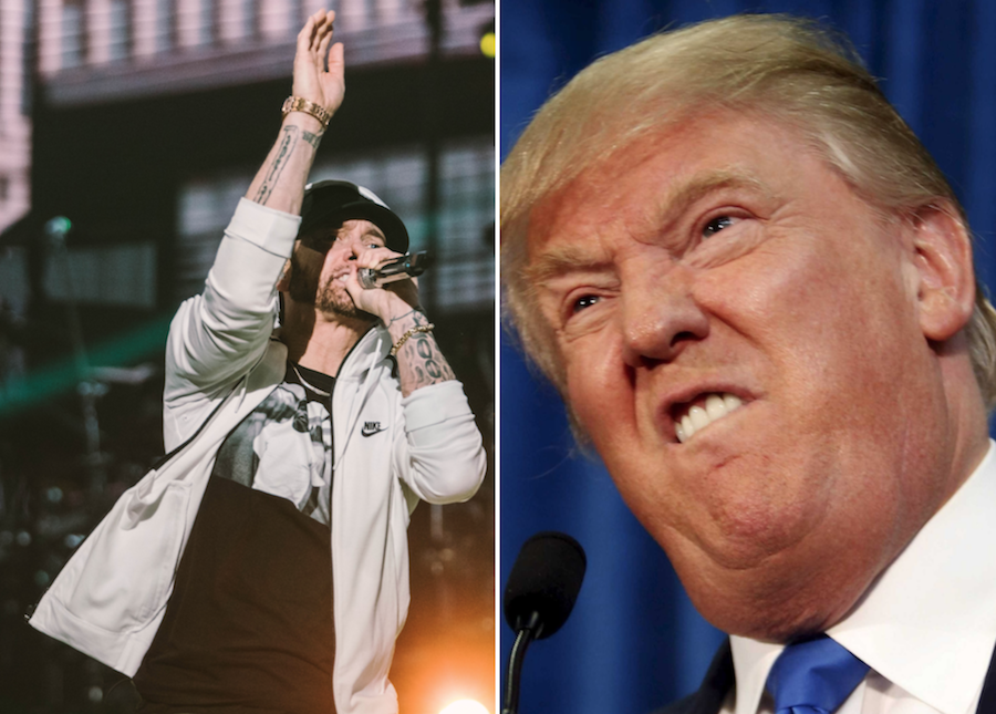 Eminem says he was questioned by Secret Service following