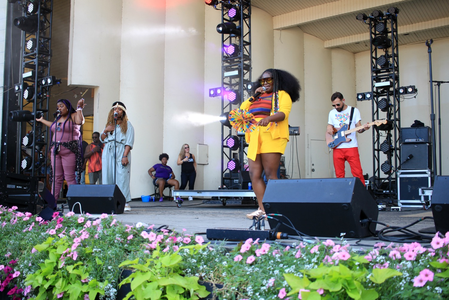 Tank and the Bangas, Lollapalooza 2018, photo by Heather Kaplan