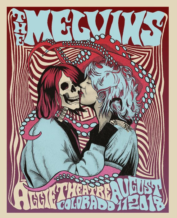 melvins tour poster kurt cobain courtney love
