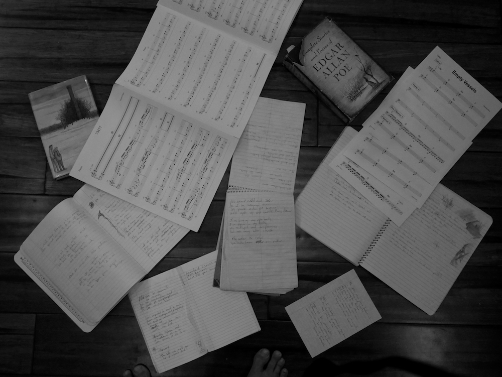My Pages on the Floor Devotchka empty vessels