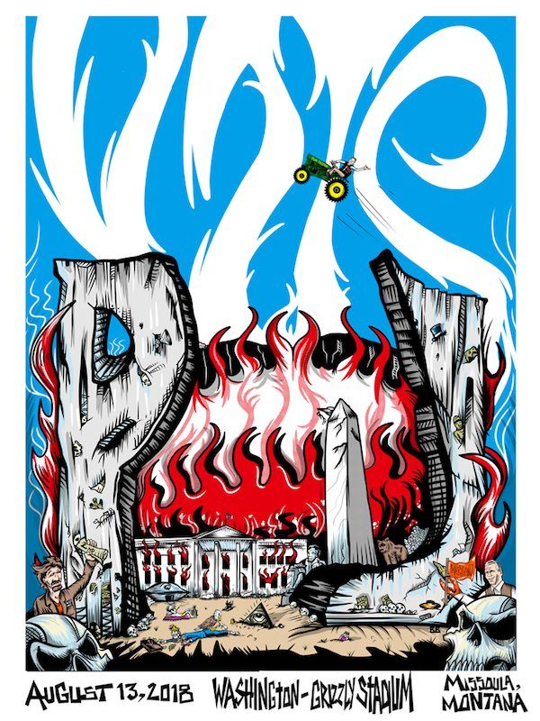 Pearl Jam tour poster trump