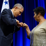 President Barack Obama Aretha Franklin Fist Bump Statement