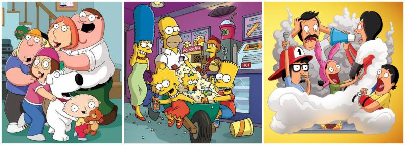 Family Guy, The Simpsons, Bob's Burgers, Fox