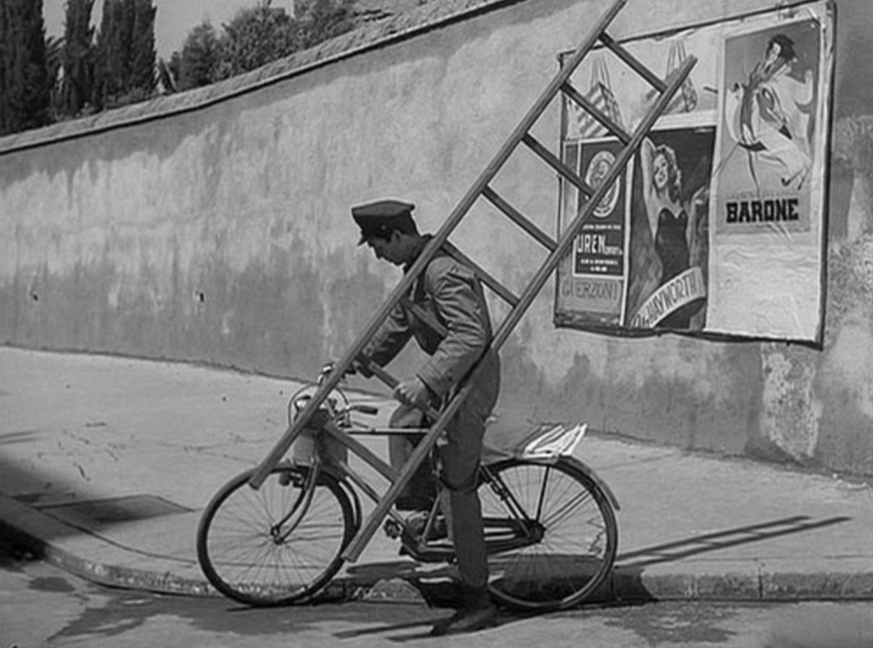 The Bicycle Thief Antonio with Ladder