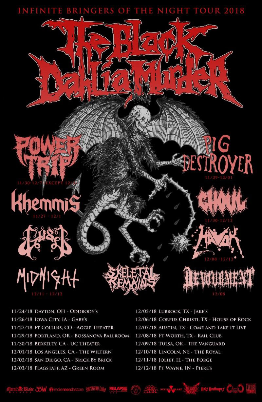 The Black Dahlia Murder tour poster