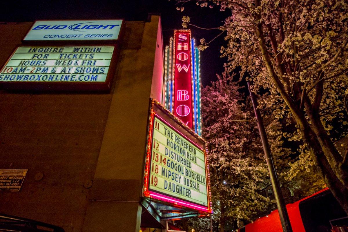 The Showbox Seattle, photo via AEG Worldwide