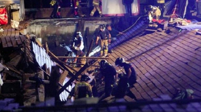 Stage collapse in Vigo, Spain