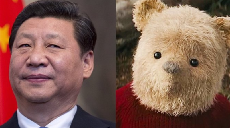 Chinese leader Xi Jinping and Winnie the Pooh