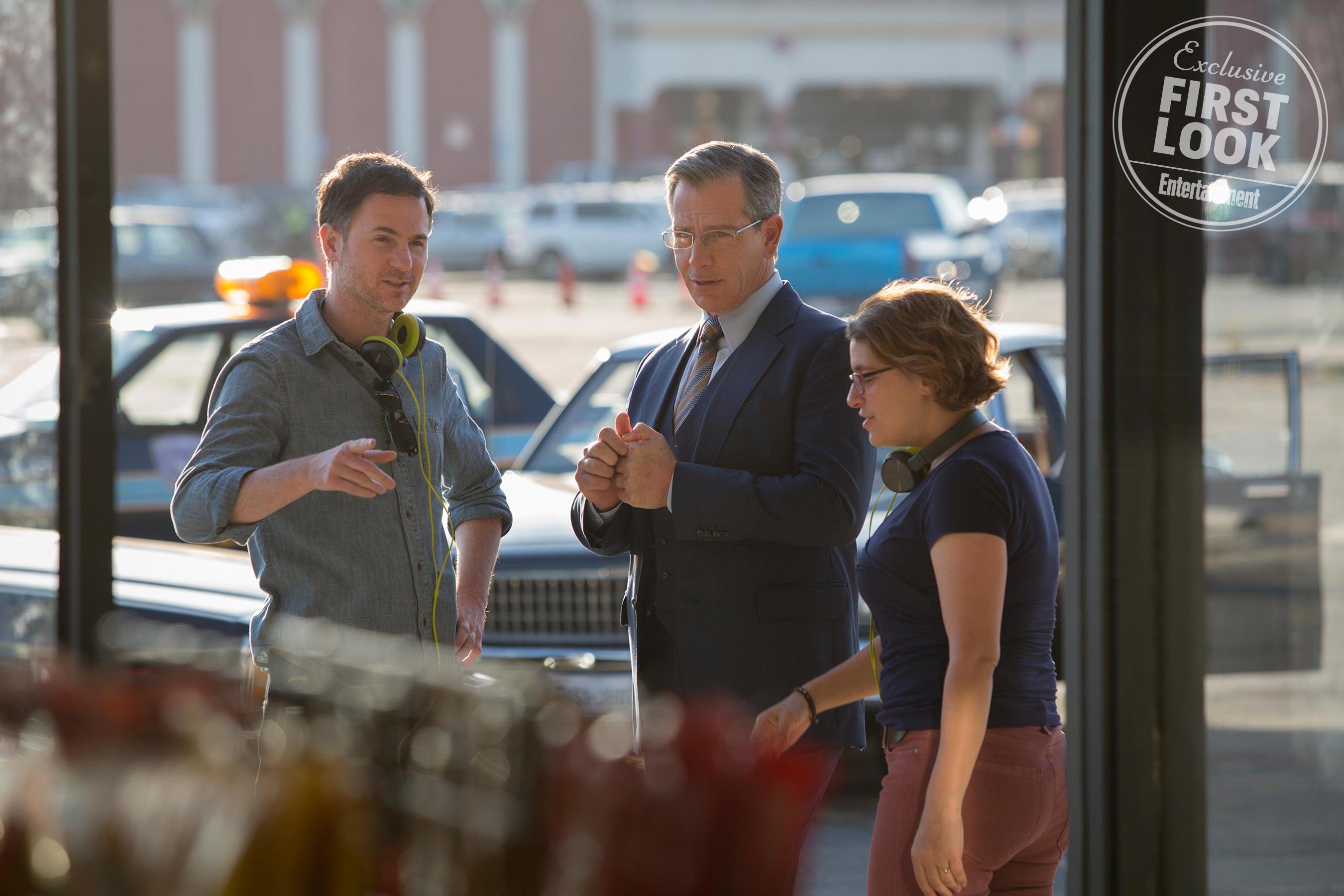 Marvel Studios captain marvel shield Director Ryan Fleck, Ben Mendelsohn as Talos, and Director Anna Boden