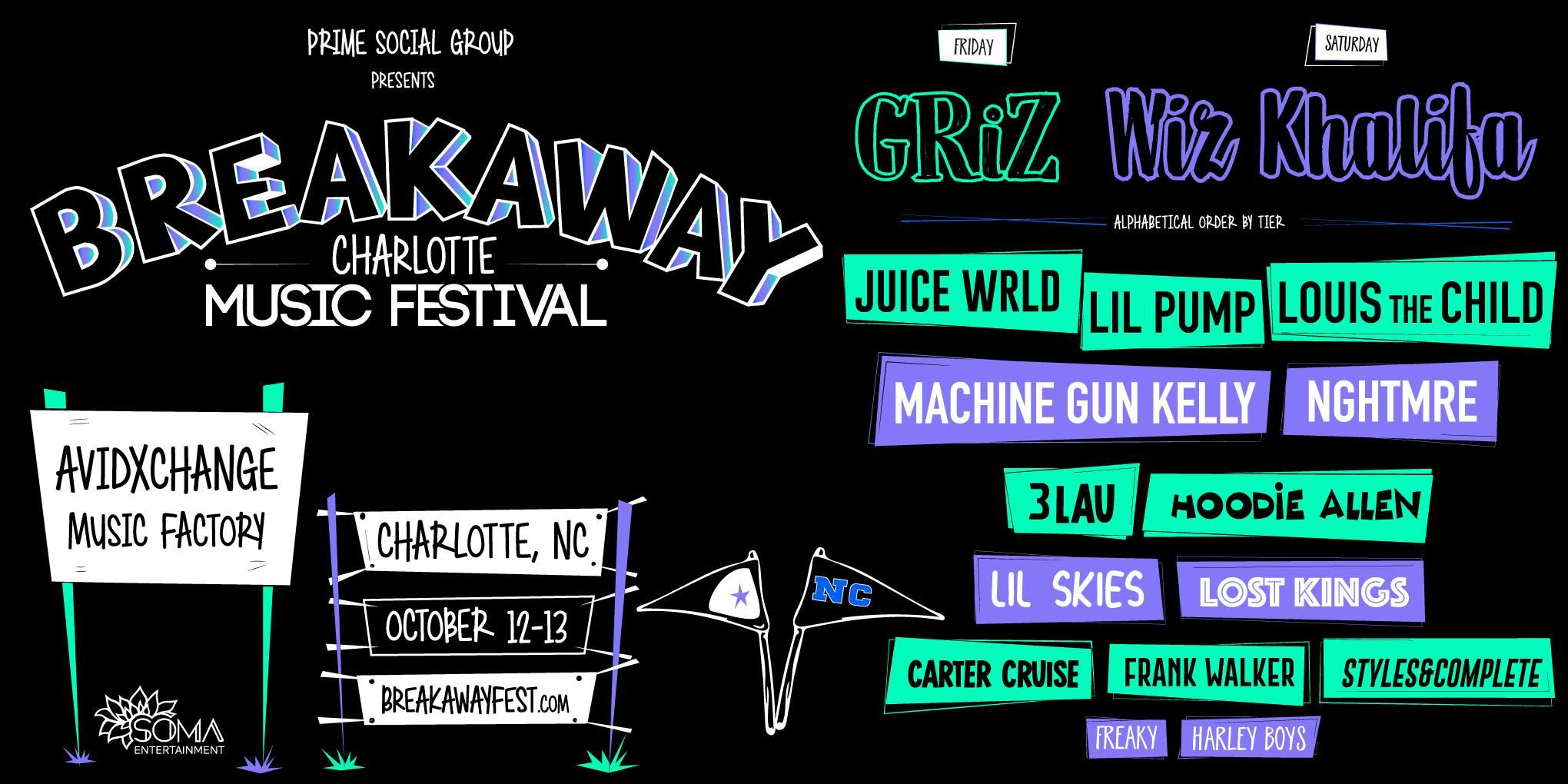Breakaway Music Festival Charlotte Win Tickets Giveaway