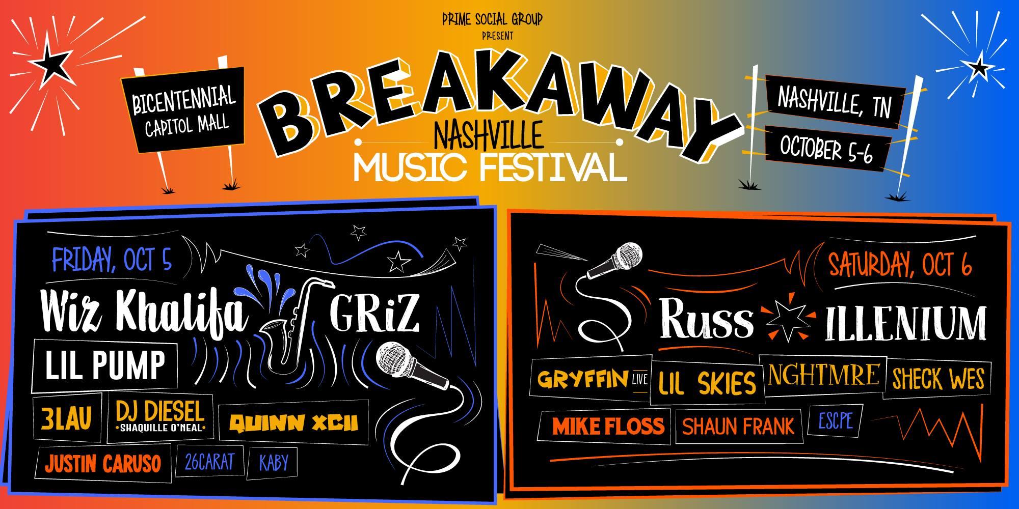 Win Tickets to Breakaway Music Festival in Nashville or Charlotte
