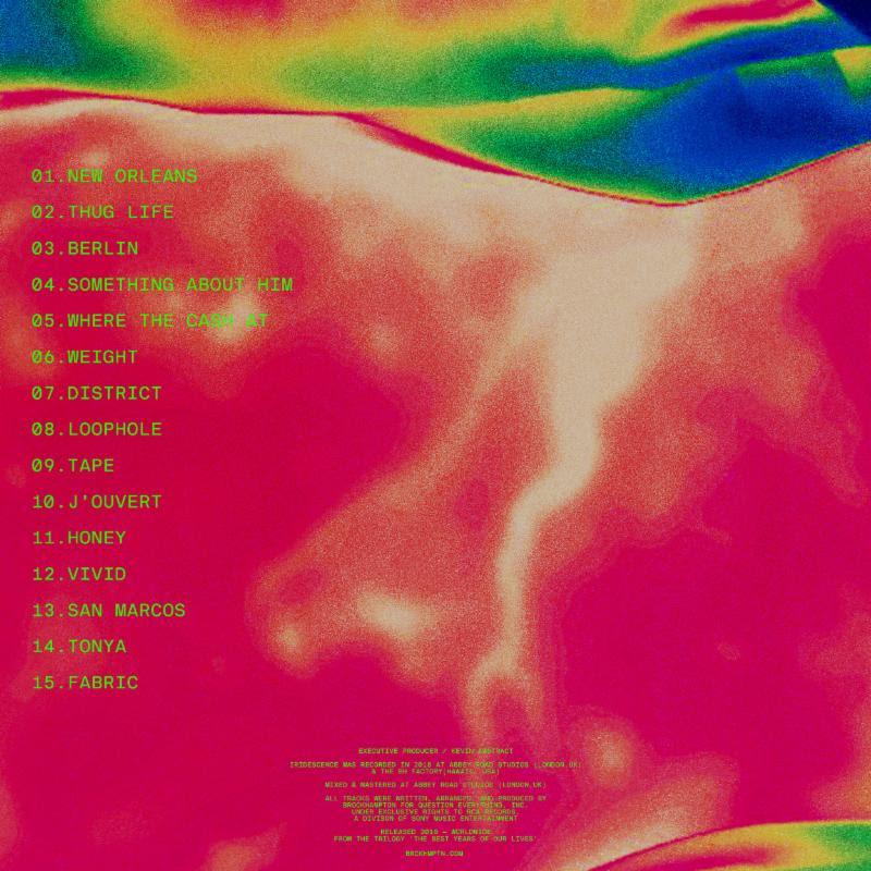 BROCKHAMPTON IRIDESCENCE album back cover artwork