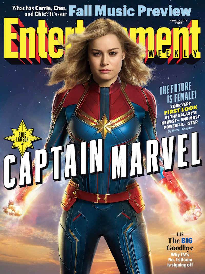 Captain Marvel Brie Larson First Look Entertainment Weekly Cover