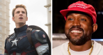 Chris Evans and Kanye West