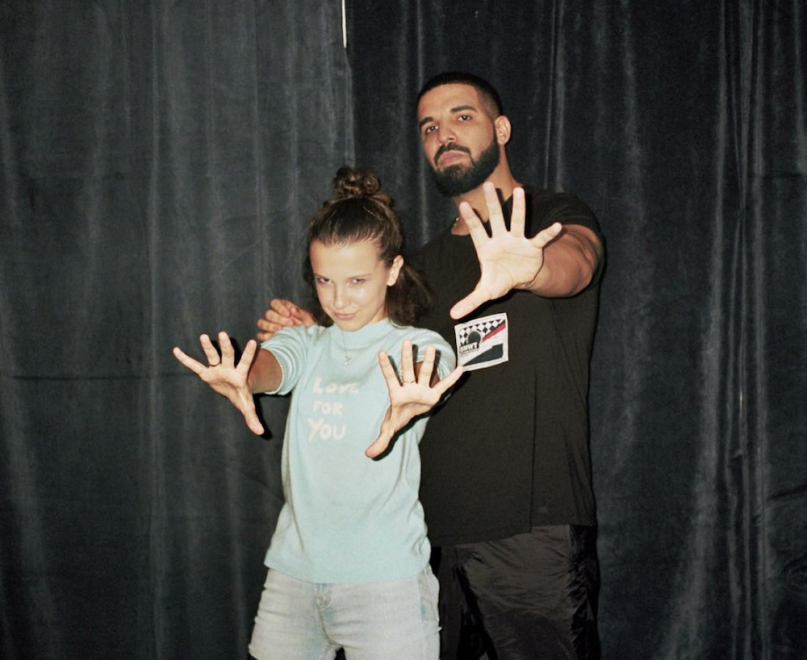 31-year-old Drake and 14-year-old Millie Bobby Brown have a weird