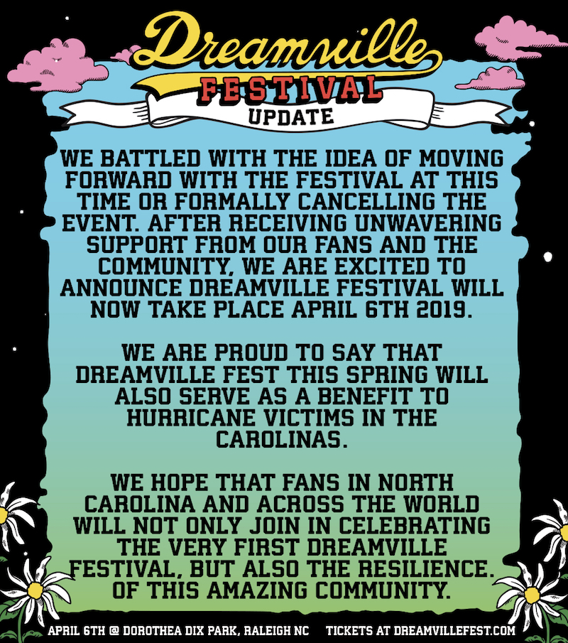 J. Coles Dreamville Festival rescheduled for Spring 2019