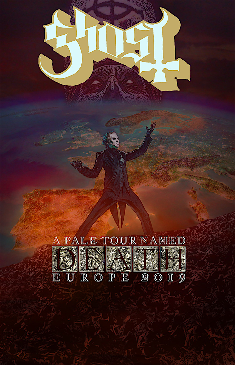Ghost 2019 Europe Tour Full Poster