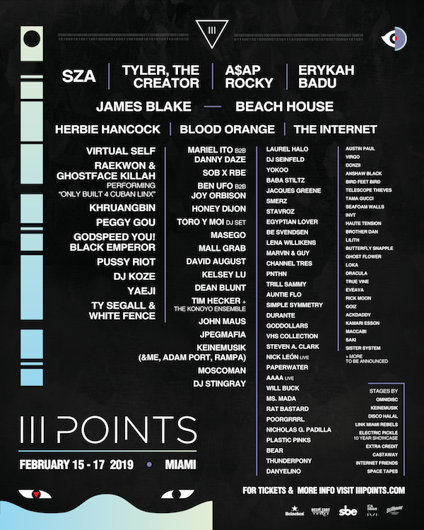 iii points 2019 lineup