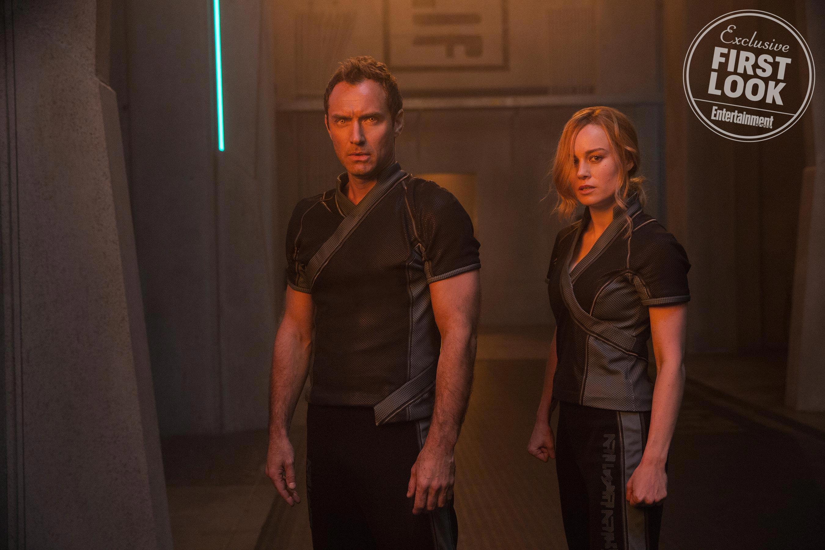 Captain Marvel Marvel Comics First Look Leader of Starforce (Jude Law) and Carol Danvers/Captain Marvel (Brie Larson)