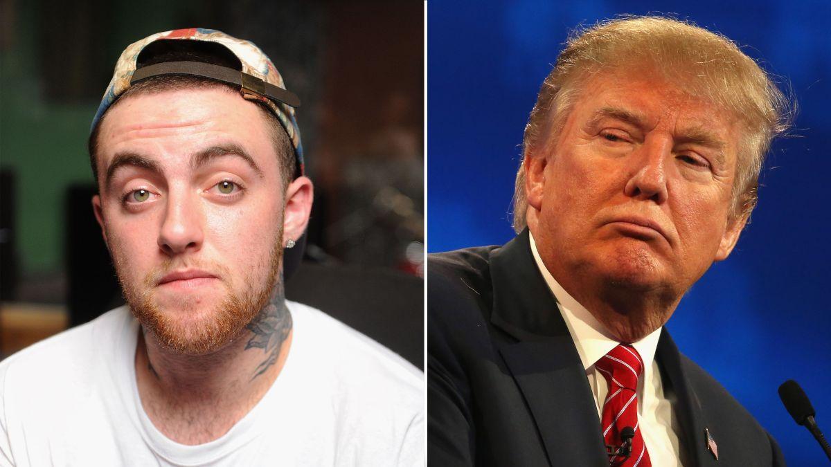 Mac Miller and Donald Trump