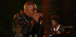 Nas performs on Colbert