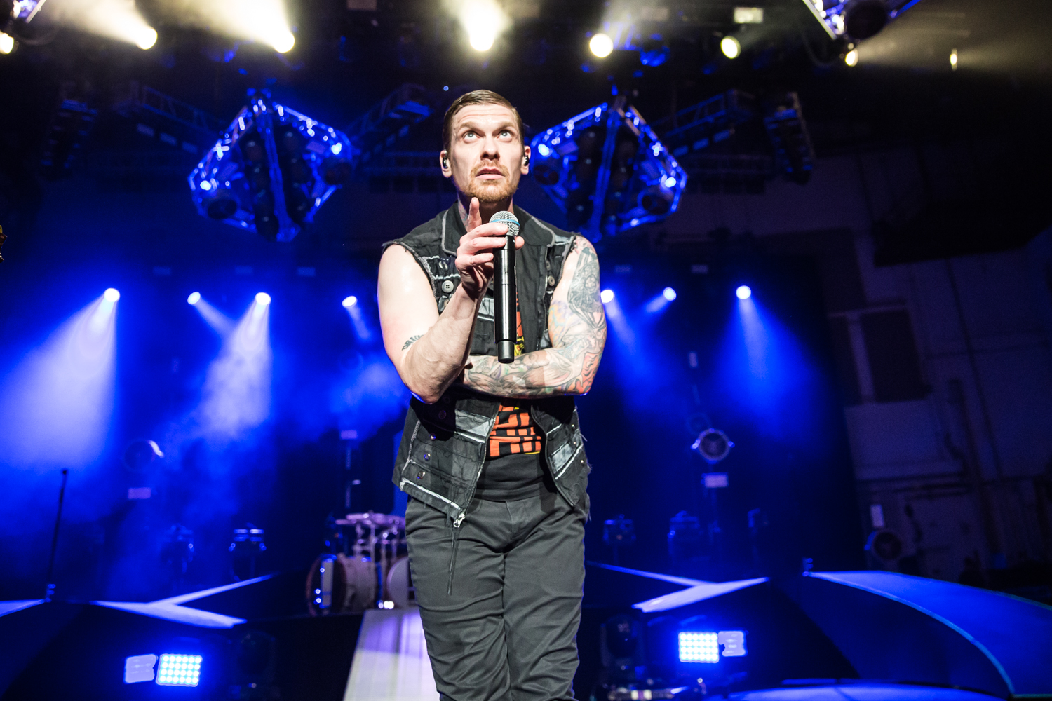 Shinedown's Brent Smith, photo by Joe Russo