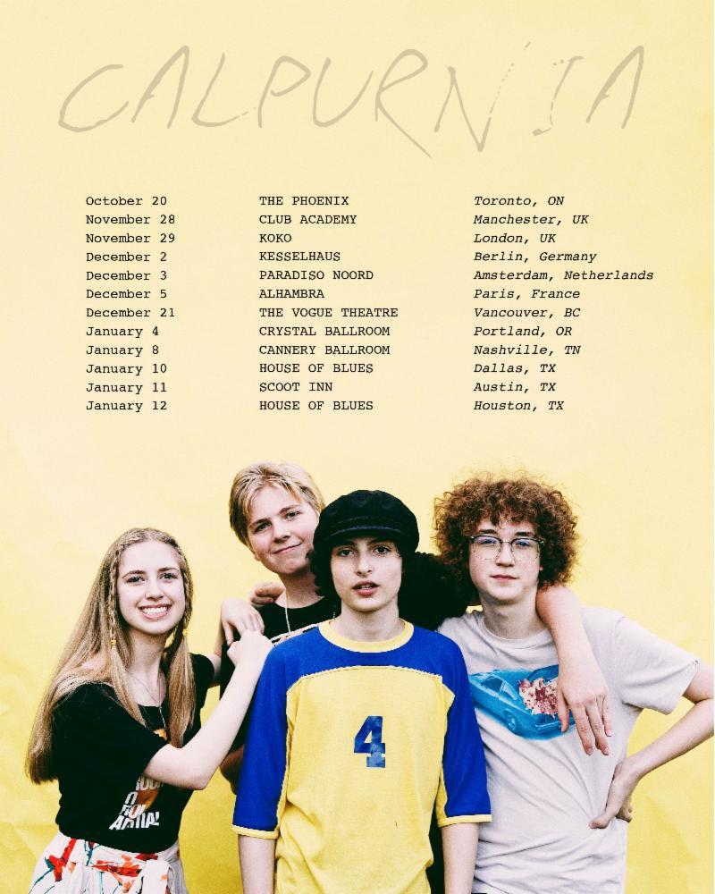Calpurnia 2018 world tour dates