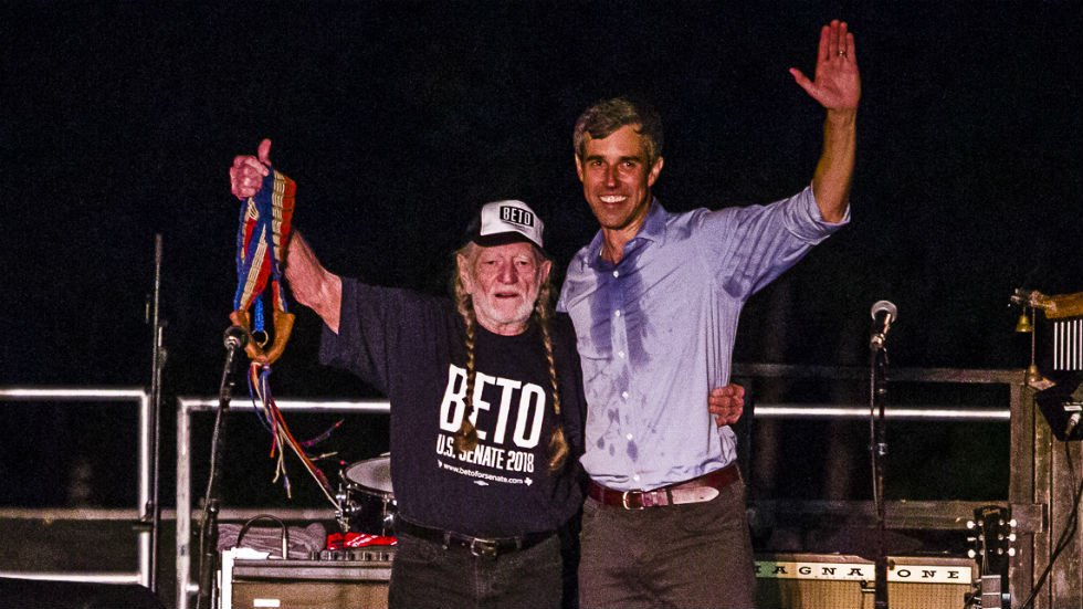 Willie Nelson and Beto O'Rourke