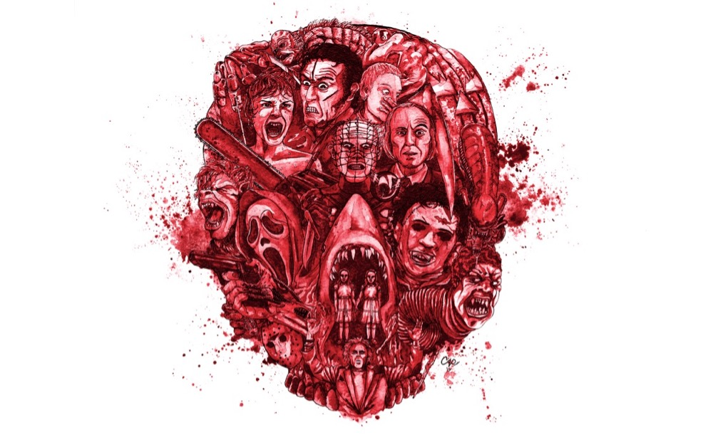 Mens Adults Ripped Skin Mutilated Horror Gory Bloody Halloween Printed T-Shirt