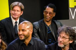 American Gods Cripsin Glover Orlando Jones Ricky Whittle Neil Gaiman New York Comic Con 2018 Ben Kaye-74
