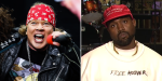 Axl Rose and Kanye West