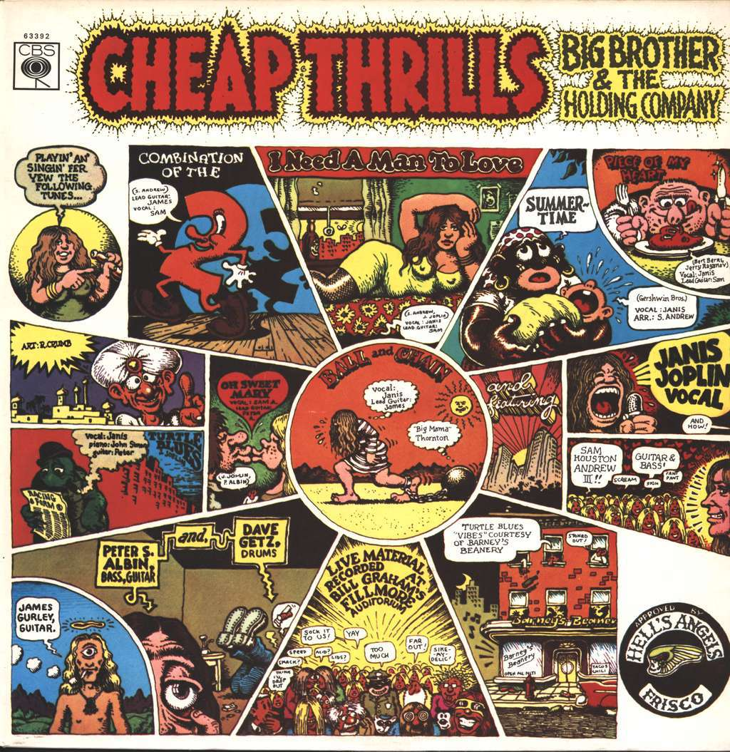 big brother and the holding company cheap thrills album cover